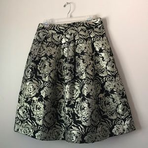 Miss Finch midi tapestry gold and black skirt L